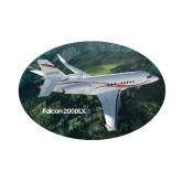 Small Decal-Falcon 2000LXS Over Green Mountain