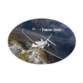 Small Decal-Falcon 2000S Over Snowy Mountain