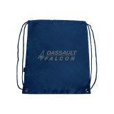 Nylon Navy Drawstring Backpack-Dassault Falcon