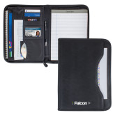 Wall Street Black Zippered Padfolio-Falcon