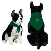 Dark Green Pet Bandana-Twinjet Craft Stacked - Falcon 2000, Falcon 2000EX