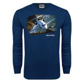 Navy Long Sleeve T Shirt-Falcon 900LX Coastal
