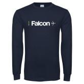 Navy Long Sleeve T Shirt-Falcon