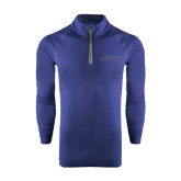Under Armour Navy Tech 1/4 Zip Performance Shirt-Dassault Falcon