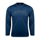 Syntrel Performance Navy Longsleeve Shirt-Dassault Falcon