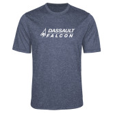 Performance Navy Heather Contender Tee-Dassault Falcon
