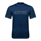 Syntrel Performance Navy Tee-Dassault Falcon