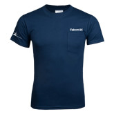 Navy T Shirt w/Pocket-Falcon 8X
