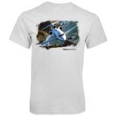 White T Shirt-Falcon 900LX Coastal