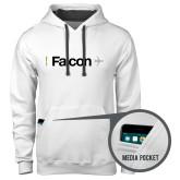 Contemporary Sofspun White Hoodie-Falcon