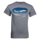 Charcoal T Shirt-Falcon 5X Over Clouds