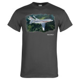 Charcoal T Shirt-Falcon 2000LXS Over Green Mountain