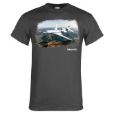 Charcoal T Shirt-Falcon 8X Over River