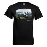 Black T Shirt-Falcon 8X Over River