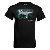 Black T Shirt-Falcon 2000LXS Over Green Mountain
