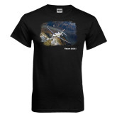 Black T Shirt-Falcon 2000S Over Snowy Mountain