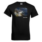 Black T Shirt-Falcon 2000S Over Snowy Mountain