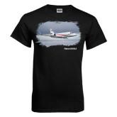 Black T Shirt-Falcon 2000LX Silver Lining