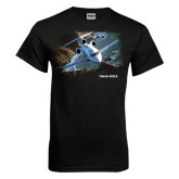 Black T Shirt-Falcon 900LX Coastal
