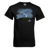 Black T Shirt-Twinjet Craft Stacked - Falcon 2000, Falcon 2000EX