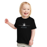 Toddler Black T Shirt-Trijet Craft Stacked - Falcon 900, Falcon 900EX, Falcon 50EX