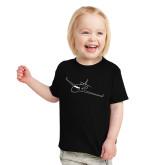 Toddler Black T Shirt-Sketch Jet