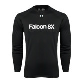 Under Armour Black Long Sleeve Tech Tee-Falcon 8X