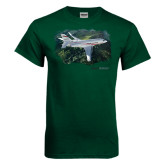 Dark Green T Shirt-Falcon 2000LXS Over Green Mountain