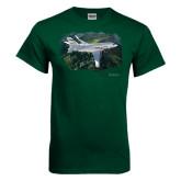Dark Green T Shirt-Falcon 2000LXS Over Green Mountain