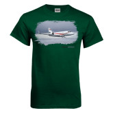 Dark Green T Shirt-Falcon 2000LX Silver Lining
