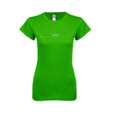 Next Level Ladies SoftStyle Junior Fitted Kelly Green Tee-Falcon 2000LX Craft Foil