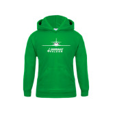 Youth Kelly Green Fleece Hoodie-Twinjet Craft Stacked - Falcon 2000, Falcon 2000EX