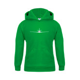 Youth Kelly Green Fleece Hoodie-Falcon 2000LXS Craft