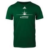 Adidas Dark Green Logo T Shirt-Trijet Craft Stacked - Falcon 900, Falcon 900EX, Falcon 50EX