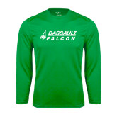 Syntrel Performance Kelly Green Longsleeve Shirt-Dassault Falcon