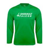 Performance Kelly Green Longsleeve Shirt-Dassault Falcon