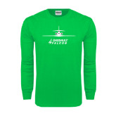 Kelly Green Long Sleeve T Shirt-Trijet Craft Stacked - Falcon 900, Falcon 900EX, Falcon 50EX