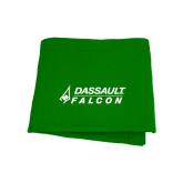 Kelly Green Sweatshirt Blanket-Dassault Falcon