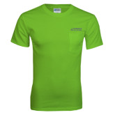 Lime Green T Shirt w/Pocket-Dassault Falcon