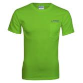 Lime Green T Shirt w/Pocket-Dassault Falcon
