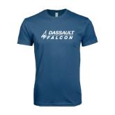 Next Level SoftStyle Indigo Blue T Shirt-Dassault Falcon
