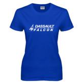Ladies Royal T Shirt-Dassault Falcon