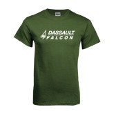Military Green T Shirt-Dassault Falcon