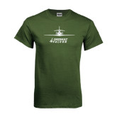 Military Green T Shirt-Trijet Craft Stacked - Falcon 900, Falcon 900EX, Falcon 50EX
