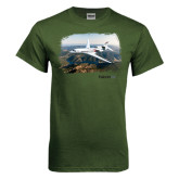 Military Green T Shirt-Falcon 8X Over River