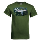 Military Green T Shirt-Falcon 2000LXS Over Green Mountain