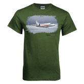 Military Green T Shirt-Falcon 2000LX Silver Lining