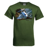 Military Green T Shirt-Falcon 900LX Coastal