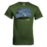 Military Green T Shirt-Twinjet Craft Stacked - Falcon 2000, Falcon 2000EX
