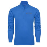 Syntrel Royal Blue Interlock 1/4 Zip-Dassault Falcon